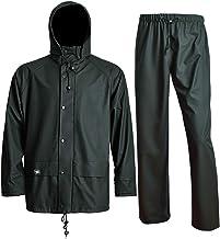 Rain Suits for Men Women Waterproof Jacket with Bib Pants Work wear 3 Pcs Heavy Duty Sets