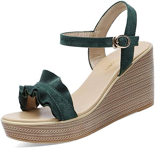 LTN Ltd - sandals Slope avec avec Plate-Forme Femme Sandales Femme été Chaussures à Talons Hauts, Jaspe, 40  la meilleure offre de magasin en ligne