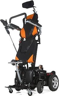 MUJO Elektrische rolstoel, opvouwbare lichte Deluxe Power Mobility Aid rolstoel, dubbele motor van 500 W, met dubbele batt...