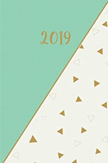 2019 Planner: Mint Triangle Annual Week to a Page Organizer, Diary, Appointment Book, Notebook & Time Management Planner