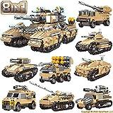 KareFLASH War Battle Tanks Building Kit | 25 Desert Storm Projects | Major Brands Compatible | 1048 Pieces