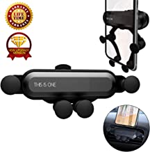Car Phone Mount,[Gravity Air Vent][Auto-Retractable Hands Free] Cell Phone Holder for Car,Universal Car Phone Holder Compatible for iPhone Xs MAX/XR/X/8/7/6 and Galaxy S10/S10 Plus/S10e/8/S7 (Black)
