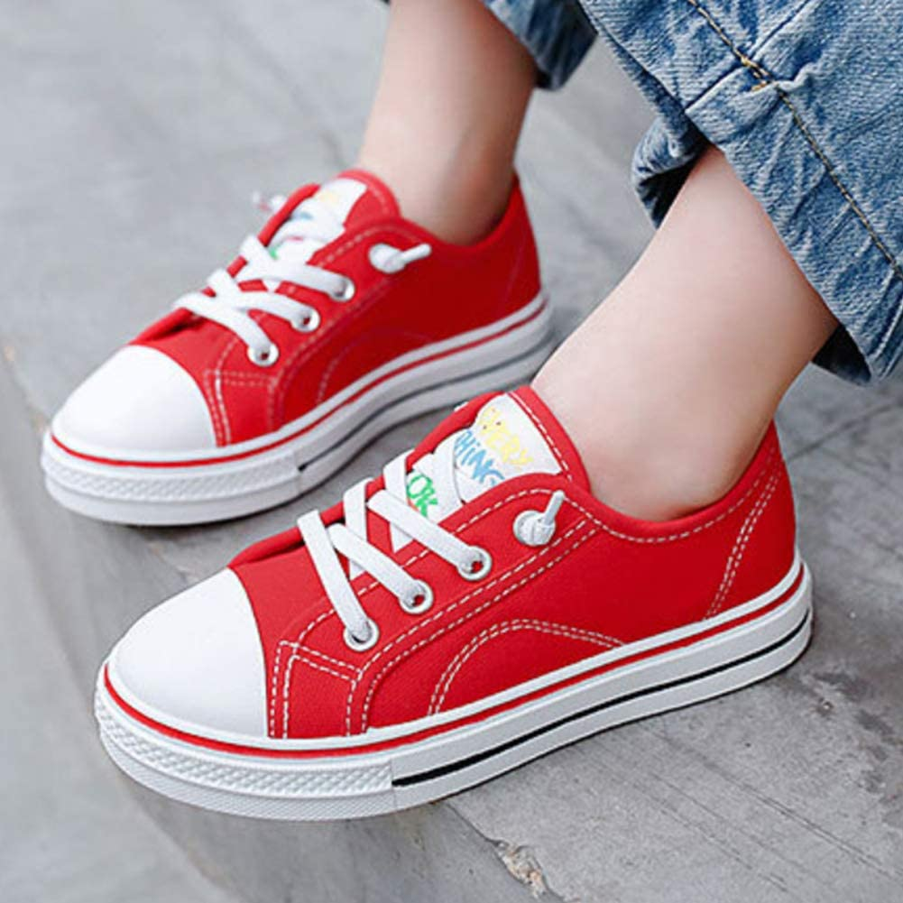 Daclay Kids Shoes Boys and Girls Multicolor Canvas Shoes Breathable Children Casual Shoes