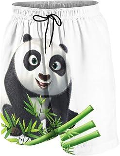 ビーチパンツ パンダ グリーン 竹 かわいい 短パン 水着 ボーイズ サーフパンツ 青年 速乾 薄い 夏 スポーツ