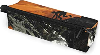 Glasses Case Mountain Walker Multi-Function Zippered Pencil Box Makeup Cosmetic Bag for Women/Men