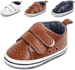 Anrenity Baby Girls Boys Toddler Hook-and-Loop Moccasins Prewalker Sneakers Lightweight Shoes