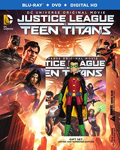 Justice League Vs Teen Titans [Blu-ray + DVD + Digital HD + Figure] [Italia] [Blu-ray]