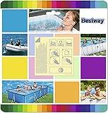 PLAY STORE cucuba Bestway 62091Juego 10parches adhesivos resistentes al agua para reparación piscinas/inflables–idea regalo