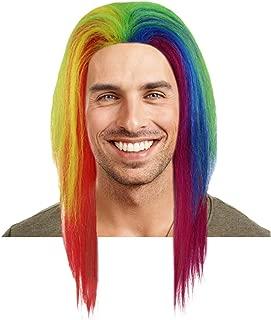 6ix9ine Daniel Hernandez Rainbow Long Straight Wig | Rainbow Celebrity Breathable Capless Cap Designed Wigs
