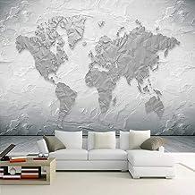 Mural 3D Sala De Estar Dormitorio Oficina Pasillo Decoración Murales Decoración De Pared Moderna.-Mapa Del Mundo-Tela No T...