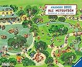 Ali Mitgutsch: Wimmel-Kalender - Kalender 2021 - DuMont-Verlag - Kinderkalender - Wandkalender - 51,8 cm x 41,8 cm