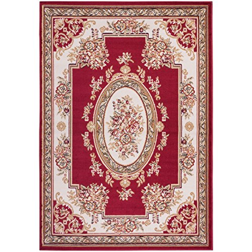 Well Woven Medallion Centre Traditional Area Rug, 2'3' x 3'11', Red