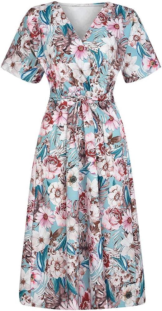 Eaeuuopy Ranking Max 64% OFF TOP13 V-Neck Dress Female Summe Casual Dresses Fashion