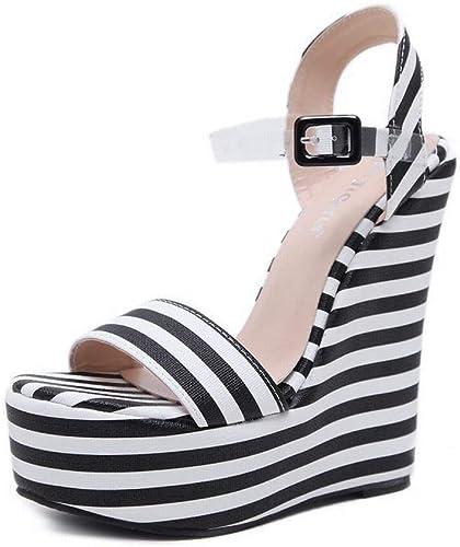 EGS-chaussures Sandales à Talons compensés pour Femmes Chaussures de Cricket Cricket (Couleur   Nude, Taille   36)  designer en ligne