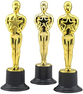 Toyvian Premios 12pcs Golden Award Trophy Rewards para Ceremonia de Celebraciones del Partido Regalo de Reconocimiento Pre...
