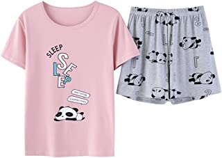Vopmocld Big Girls' Lovely Cat Sleepy Bear Sleepwear Cute Cartoon 2PCS Pajama Sets