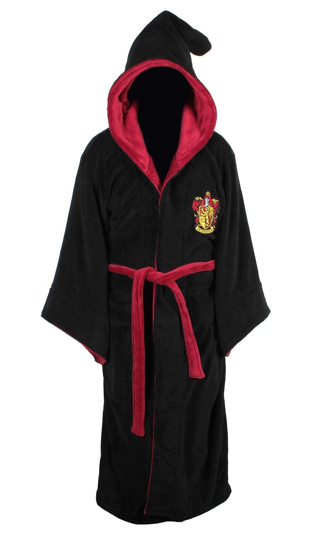 Gryffindor Harry Potter Fleece Bathrobe Black Burgundy