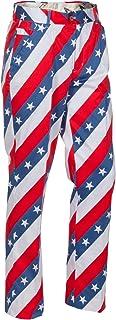 Men's Plus Size Golf Pants, Pars and Stripes, 38W x 32L