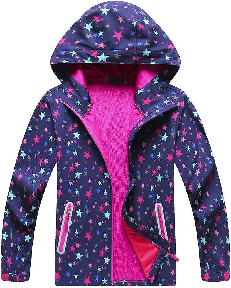 Jingle Bongala Boys' Girls' Rain Jackets Waterproof Raincoats
