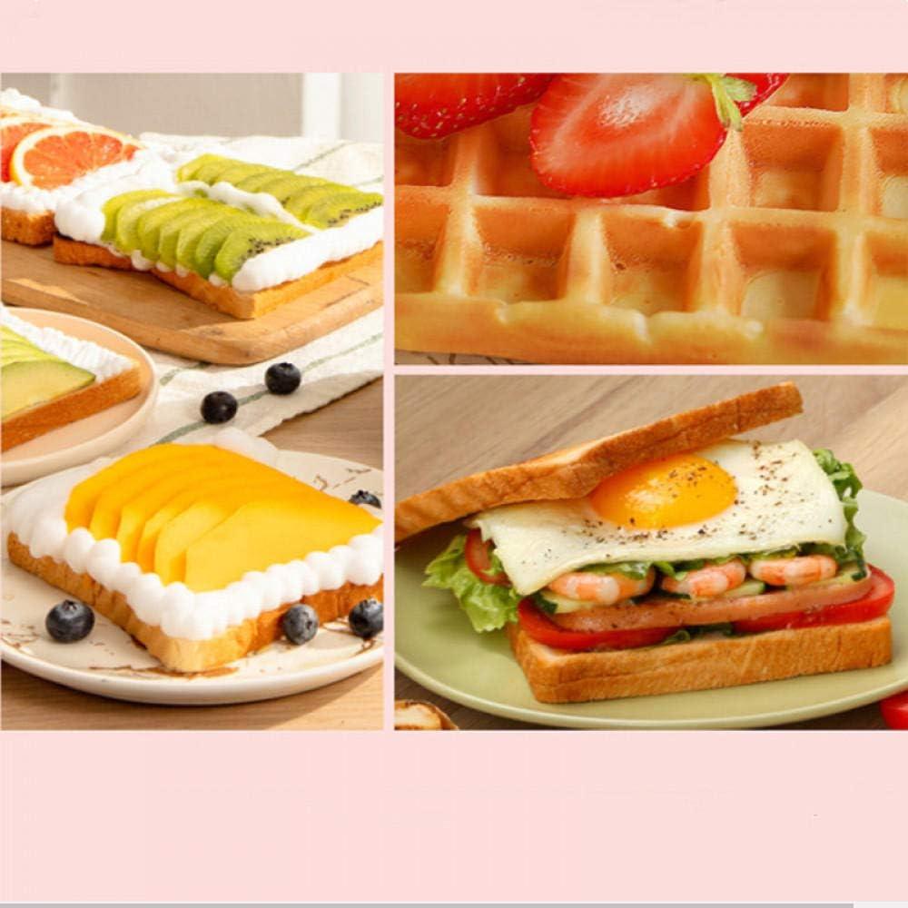Machine à petit-déjeuner sandwich gaufres alimentaires légères maison multifonction double plateau machine à sandwich configuration simple et double plateau-rouge Rouge