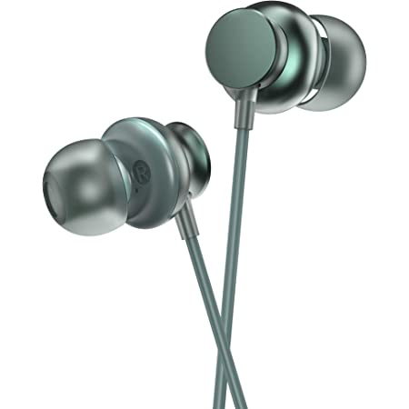 Ambrane Stringz 38 Wired Earphones with Mic, Powerful HD Sound with High Bass, Tangle Free Cable, Comfort in-Ear Fit, 3.5mm Jack (Green), Normal