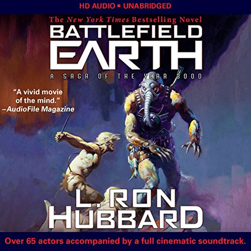 Battlefield Earth     Post-Apocalyptic Sci-Fi and New York Times Bestseller              By:                                                                                                                                 L. Ron Hubbard                               Narrated by:                                                                                                                                 Josh Clark,                                                                                        Scott Menville,                                                                                        Fred Tatascorie,                   and others                 Length: 47 hrs and 27 mins     294 ratings     Overall 4.5