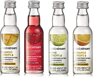 SodaStream Fruit Drops Variety Pack - Mango, Raspberry, Lime & Orange (1.36fl oz)