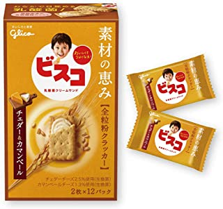 江崎グリコ ビスコ素材の恵み(全粒粉) チェダー&カマンベール 24枚 ×10個
