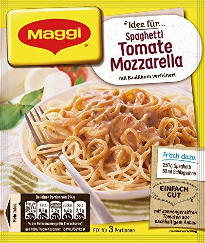 Maggi fix & frisch, Spaghetti Tomate-Mozzarella, 18x 40 g Beutel
