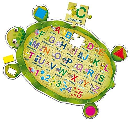 Lisciani Giochi - F41169 - Jeu Éducatif - Puzzle, la Tortue ABC - 58 Pièces