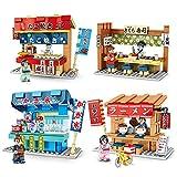 4Pcs/Set Sembo Blocks Kids Building Toys Girls Puzzle Jepanese Snack Bar 601065-68 (no Box)