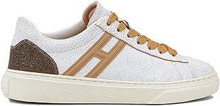 Hogan Scarpe da Donna H365 HXW3650J971O7K0PRY Sportive Sneakers in Pelle Stan Bianco White Nuovo Comode Tempo Libero Smith