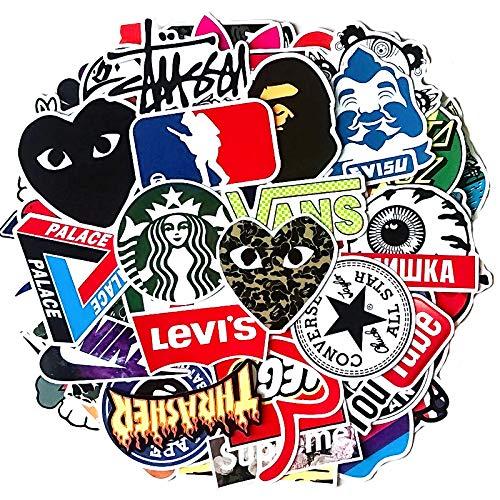 PRETTYSUNSHINE Aufkleber Pack 100 Stück, Coole Graffiti Sticker Decals, Wasserdicht Vinyl Stickers für Laptop Koffer Helm Motorrad Skateboard Auto Fahrrad Computer Vintage Aesthetic Sticker