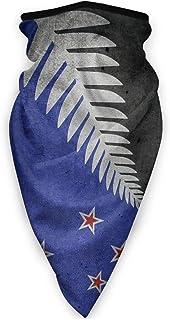 P PIPIGOU New Zealand Flag Face Bandanas, Head Wraps Neck Gaiter Balaclava Windproof Anti Dust Outdoor Scarf for Men Women