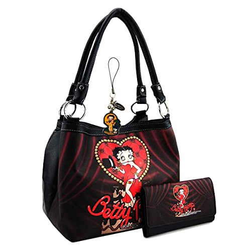 Betty Boop Medium Handbag Wallet Set, Show Stage