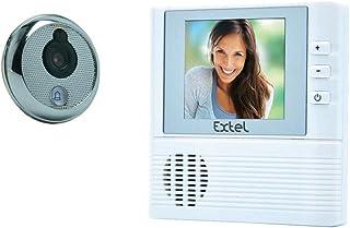 EXTEL - 720272 Visiophone - Judas de Porte couleur Diagonal Moniteur - écran 2, 8'' (7 cm) Blanc/Gris Alu