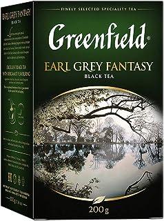 GREENFIELD EARL GREY FANTASY | Schwarztee | Hochwertiger Schwarzer Tee lose Mit Bergamotte Aroma | Loser Tee | Flavoured Black Tea, Bergamot | 200g