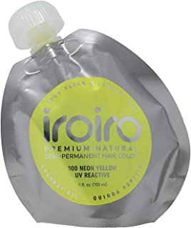 IROIRO Premium Natural Semi-Permanent Hair Color 300 Neon Yellow (4oz)