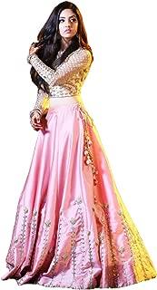 Rinaaz fashion New Pink Lengha Choli Indian Party Wear Lehenga Lengha Choli Pakistani Wedding Choli