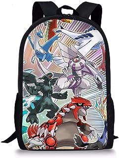 Anime Pokemon Mochila para niños, estilo vintage, con diseño de campus, Pikachu, mochila de hombro para niños, mochila de dibujos animados, para viajes