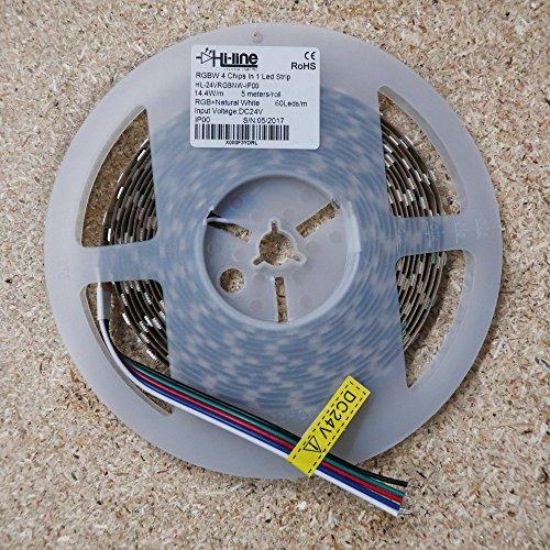 Bande de LED RGBW LED (RVB + NW) 24 V-de ip00 cri80 14,4 W/M SMD5050
