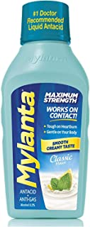 Mylanta Antacid and Gas Relief, Maximum Strength Formula, Classic Flavor, 12 Fluid Ounce