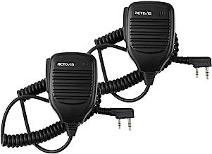Retevis Walkie Talkies Speaker Mic 2 Pin Shoulder Speaker for Baofeng UV-5R UV-82 Kenwood TK-3000 Retevis H-777 RT1 RT21 R...