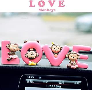 FULL WERK Creative Cute Monkeys Love Dashboard Decorations Car Home Office Ornaments Best Birthday Holiday Gift (LOVE Monkeys)