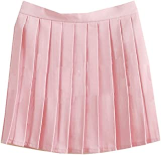 Girls School Uniforms Solid Pleated Mini Skirt