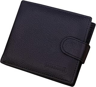 Men's Classic Leather Bifold Wallet Button Clutch Credit Card Case Purse Holder