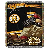 NORTHWEST NHL Boston Bruins Woven Tapestry Throw Blanket, 48' x 60', Vintage