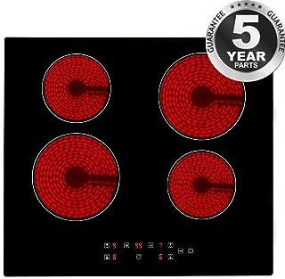 comprar comparacion Placa de vitrocerámica 4 fogones de 60 cm de ancho, color negro