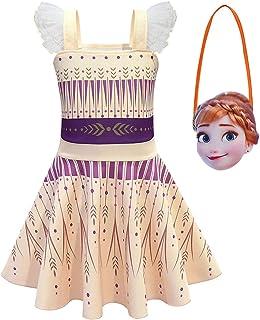 Debispax Anna Princess Cosplay Costume Snow Queen Party Halloween Dress for Girls
