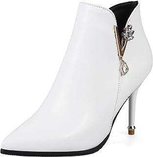 JOJONUNU Women Fashion Thin High Heels Booties Pointed Toe